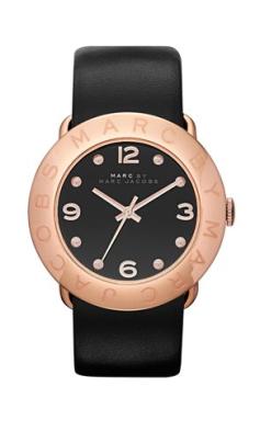 elblogdeanasuero_Regalos Navidad Relojes_Marc Jacobs cuero negro y oro rosa