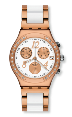 elblogdeanasuero_Regalos Navidad Relojes_Swatch blanco y oro rosa