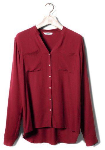 elblogdeanasuero_Burgundy_Pull & Bear camisa