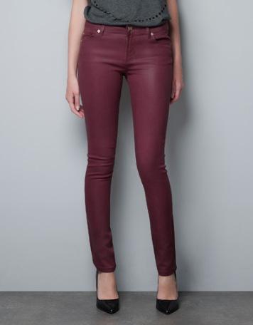 elblogdeanasuero_Burgundy_Zara pantalones encerados