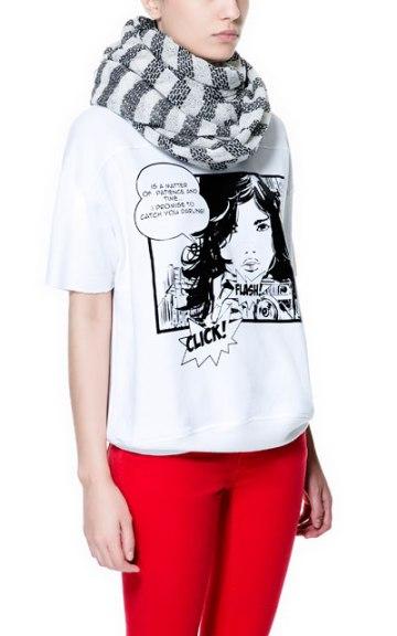 elblogdeanasuero_Cómic_Zara camiseta blanca