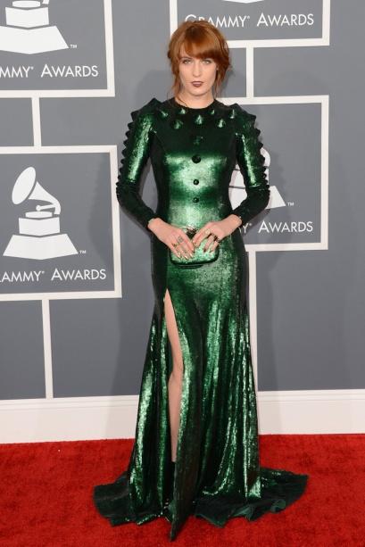 elblogdeanasuero_Grammy 2013_Florence Welch Givenchy verde