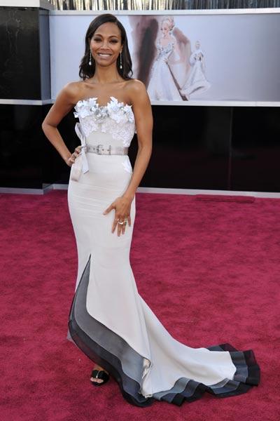 elblogdeanasuero_Oscars 2013_Zoe Saldana Alexis Mabille