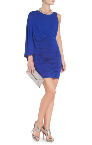 Vestido azul klein para boda de dia