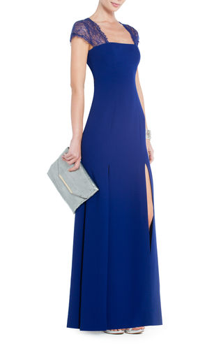 elblogdeanasuero_Invitadas boda 2013_BCBG largo azul con encaje