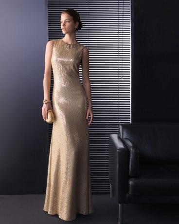 elblogdeanasuero_Invitadas boda 2013_Rosa Clara largo metalizado dorado