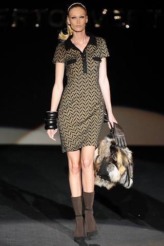 elblogdeanasuero_MBFWM Otoño-Invierno 2013_Roberto Verino vestido estampado geométrico