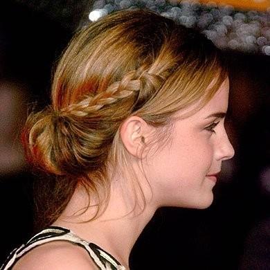 elblogdeanasuero_Peinados novia_recogido con trenza Emma Watson