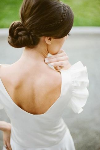 elblogdeanasuero_Peinados novia_recogido con trenza pequeña