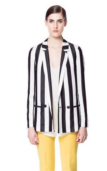 elblogdeanasuero_rayas blanco y negro_americana Zara 69,95