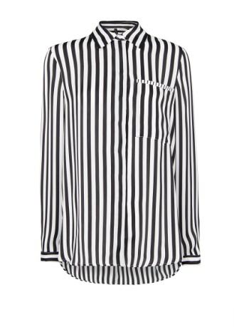 elblogdeanasuero_rayas blanco y negro_camisa bolsillo Mango 29,99