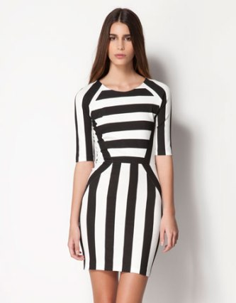 elblogdeanasuero_rayas blanco y negro_vestido rayas Bershka 25,99