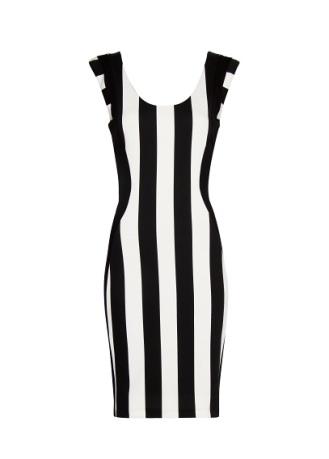 elblogdeanasuero_rayas blanco y negro_vestido rayas verticales Mango 39,99
