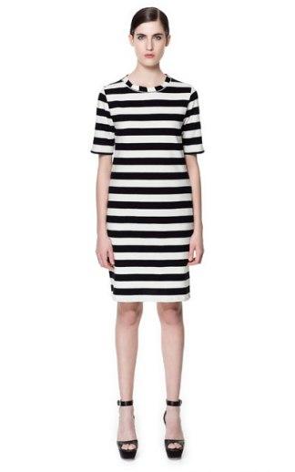 elblogdeanasuero_rayas blanco y negro_vestido todo de rayas Zara 25,95