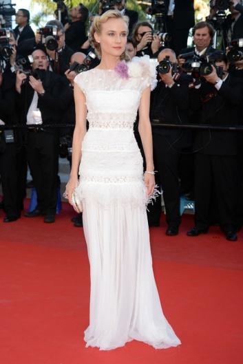 elblogdeanasuero_El estilo de Diane Kruger_Cannes Nina Ricci blanco