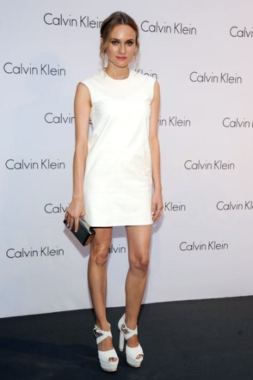 elblogdeanasuero_El estilo de Diane Kruger_Evento Calvin Klein Calvin Klein blanco corto