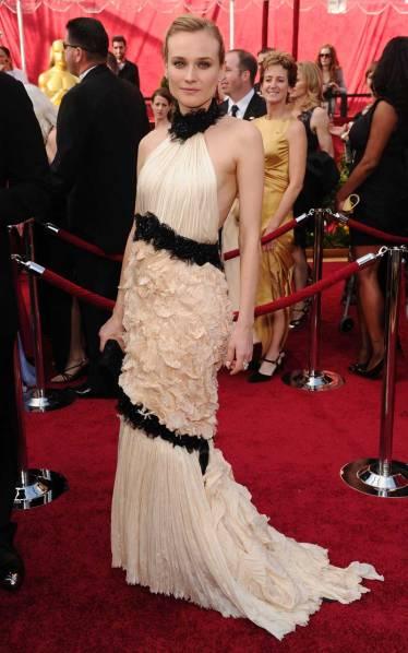 elblogdeanasuero_El estilo de Diane Kruger_Oscars Chanel blanco y negro