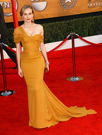 elblogdeanasuero_El estilo de Diane Kruger_Premios SAG Jason Wu mostaza