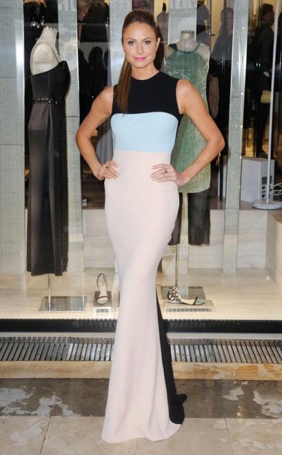 elblogdeanasuero_Cannes 2013_Armani Stacy Keibler vestido tricolor