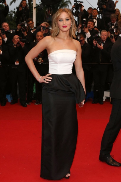 elblogdeanasuero_Cannes 2013_Dior Jennifer Lawrence blanco y negro