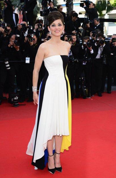 elblogdeanasuero_Cannes 2013_Dior Marion Cotillard rayas Mondrian