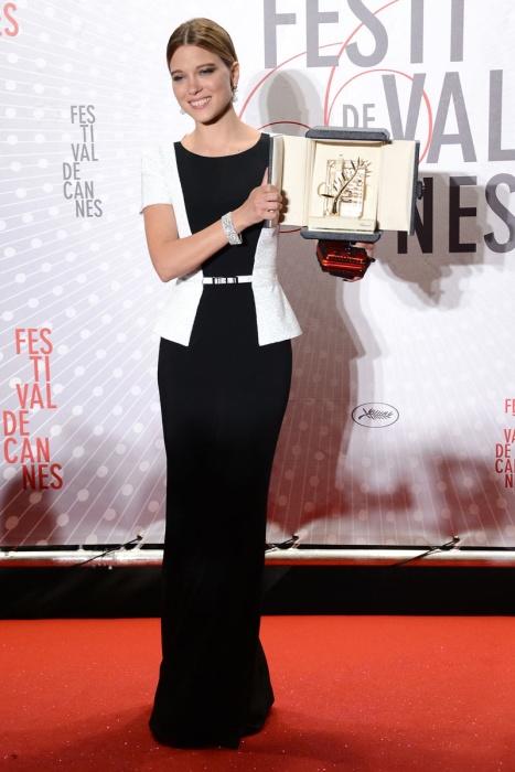 elblogdeanasuero_Cannes 2013_Maxime Simoens Couture Lea Seydoux blanco y negro