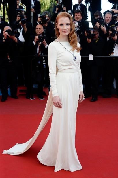 elblogdeanasuero_Cannes 2013_Versace Jessica Chastain blanco