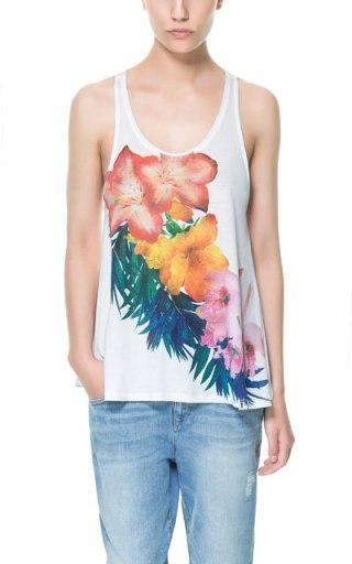 elblogdeanasuero_Estampado Tropical_top tirantes blanco Zara TRF 12,95 €