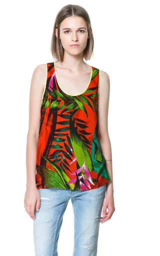 elblogdeanasuero_Estampado Tropical_top tirantes Zara 17,95 €