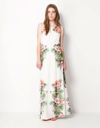 elblogdeanasuero_Estampado Tropical_vestido largo Bershka 35,99 €
