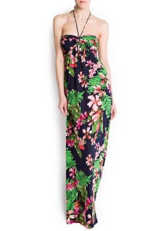 elblogdeanasuero_Estampado Tropical_vestido largo Mango 35,99 €
