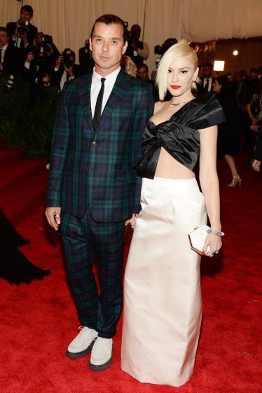 elblogdeanasuero_Gala MET 2013_Gwen Stefani y Gavin Rossdale Maison Martin Margiela