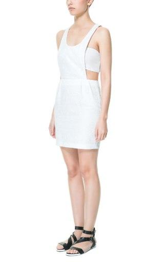 elblogdeanasuero_Petos_Zara vestido corto blanco