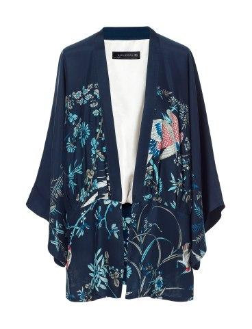 elblogdeanasuero_Tendencia Oriental_Zara Kimono pájaro azul