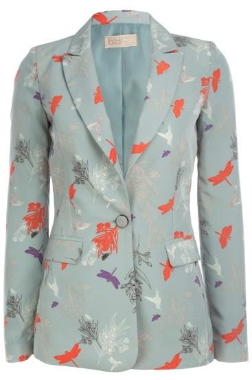 elblogdeanasuero_Chaquetas estampadas_BDBA blazer mariposas y flores azul