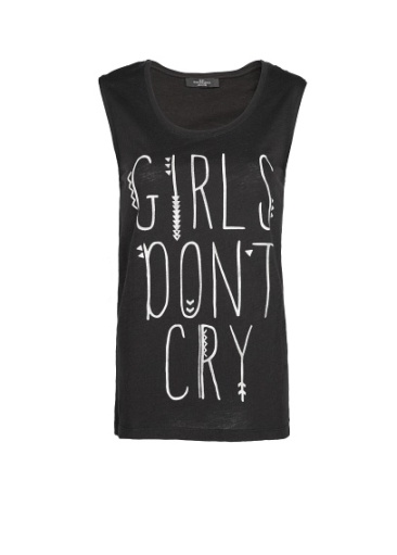 elblogdeanasuero_Camisetas mensaje_Mango girls dont cry