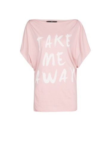 elblogdeanasuero_Camisetas mensaje_Mango take me away