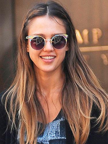 elblogdeanasuero_Gafas de sol redondas_Jessica Alba