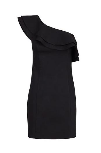 elblogdeanasuero_Little black dress_Blanco escote asimétrico con volante