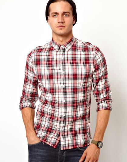 elblogdeanasuero_Tendencia tartán_Asos camisa masculina roja y blanca