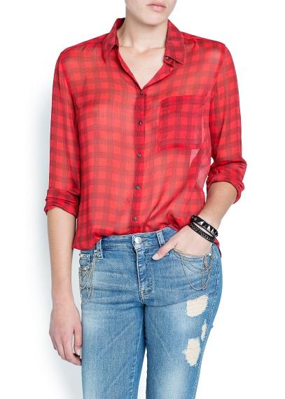 elblogdeanasuero_Tendencia tartán_Mango camisa gasa roja