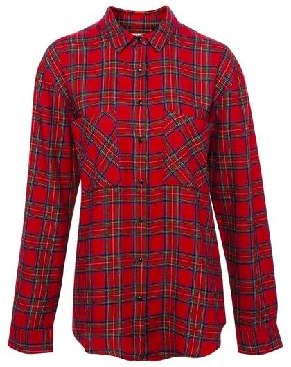 elblogdeanasuero_Tendencia tartán_Pull & Bear camisa roja