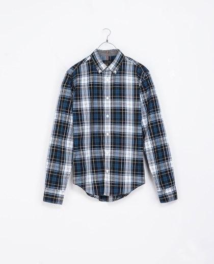 elblogdeanasuero_Tendencia tartán_Zara camisa masculina blanca y azul