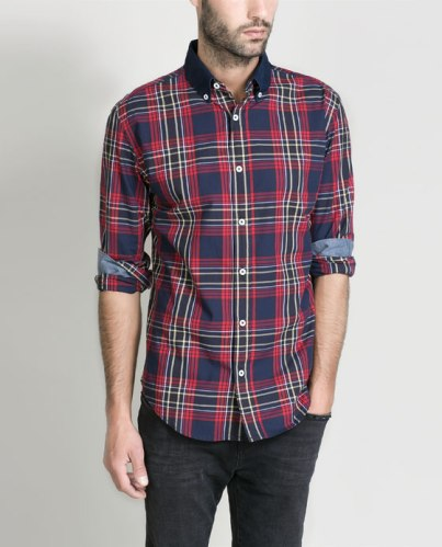 elblogdeanasuero_Tendencia tartán_Zara camisa masculina roja y azul