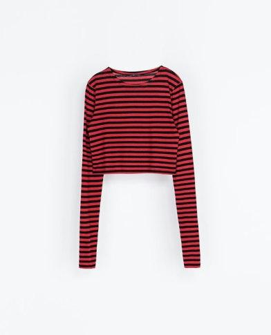 elblogdeanasuero_otoño-invierno rojo_Zara cropped top rayas