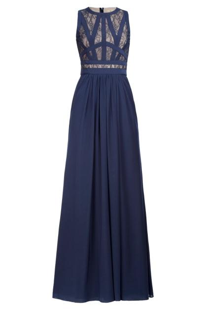 elblogdeanasuero_Vestidos boda otoño invierno 2013_BDBA vestido azul marino largo