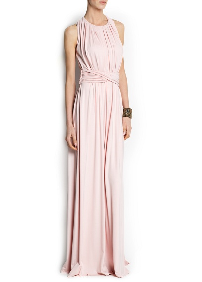 elblogdeanasuero_Vestidos boda otoño invierno 2013_Mango vestido largo drapeado rosa