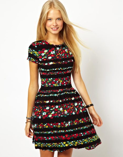 elblogdeanasuero_Estampado flores_Asos mini vestido rayas