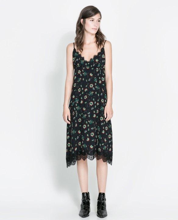 elblogdeanasuero_Estampado flores_Zara vestido lencero negro