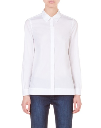 elblogdeanasuero_Fondo de armario Camisa blanca_Bimba y Lola algodón con zócalo